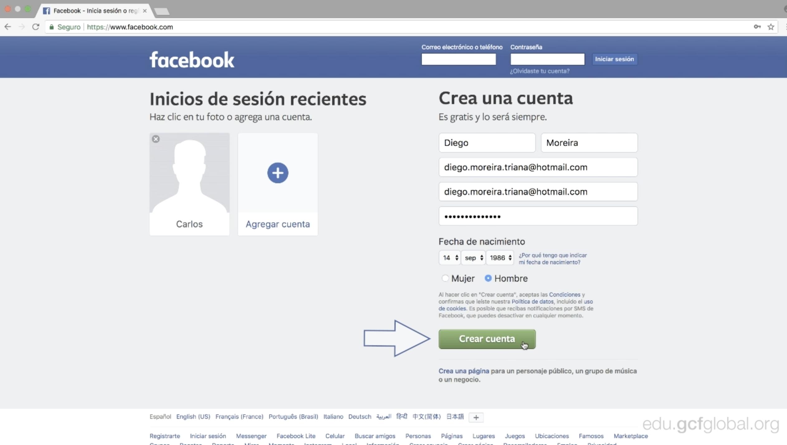 facebook entrar iniciar sesion en español españa m iniciar sesión