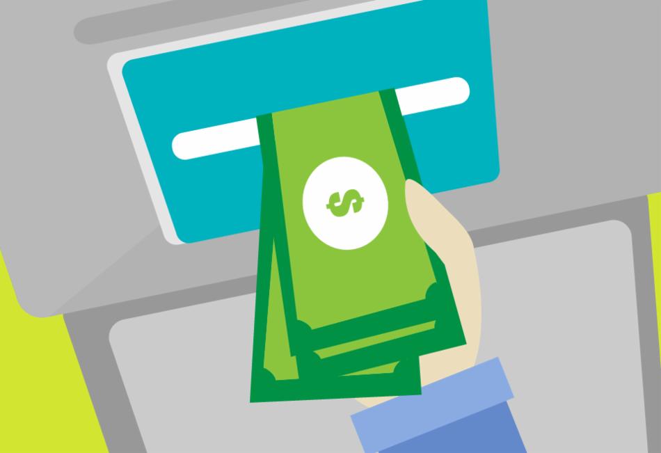 Puedes retirar dinero a crédito de cajeros automáticos.