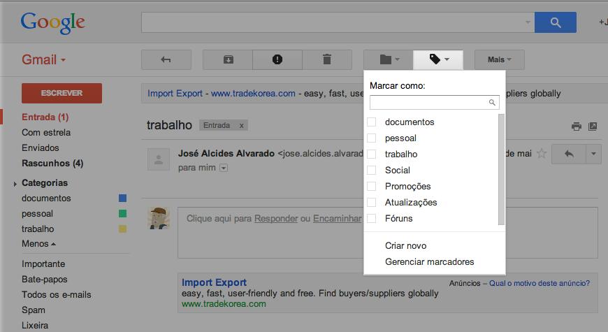 Ferramentas de Gmail.