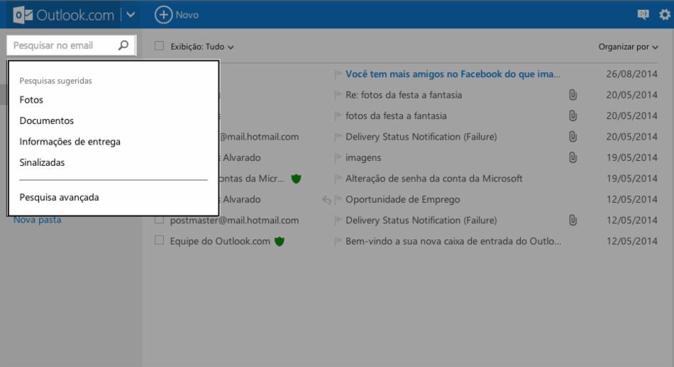 Ferramentas do Outlook.