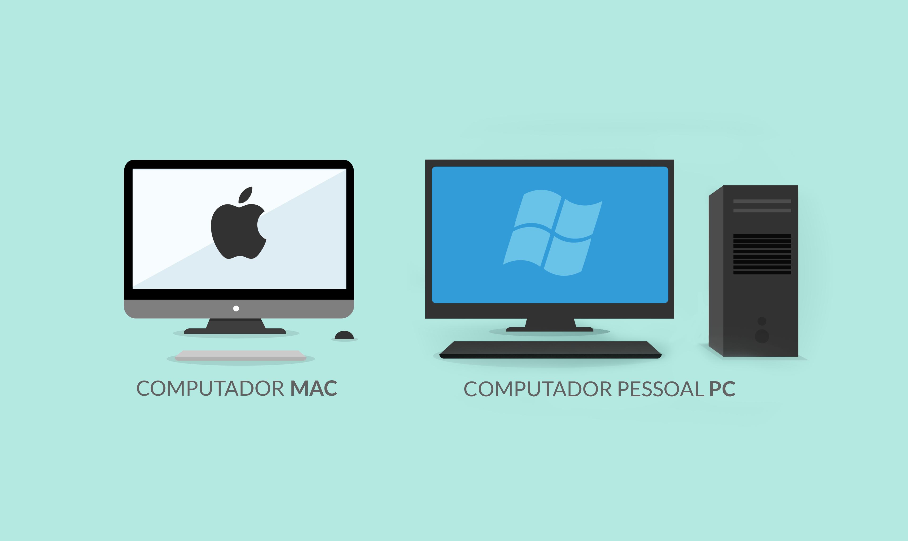 Diferenças entre um PC e um MAC