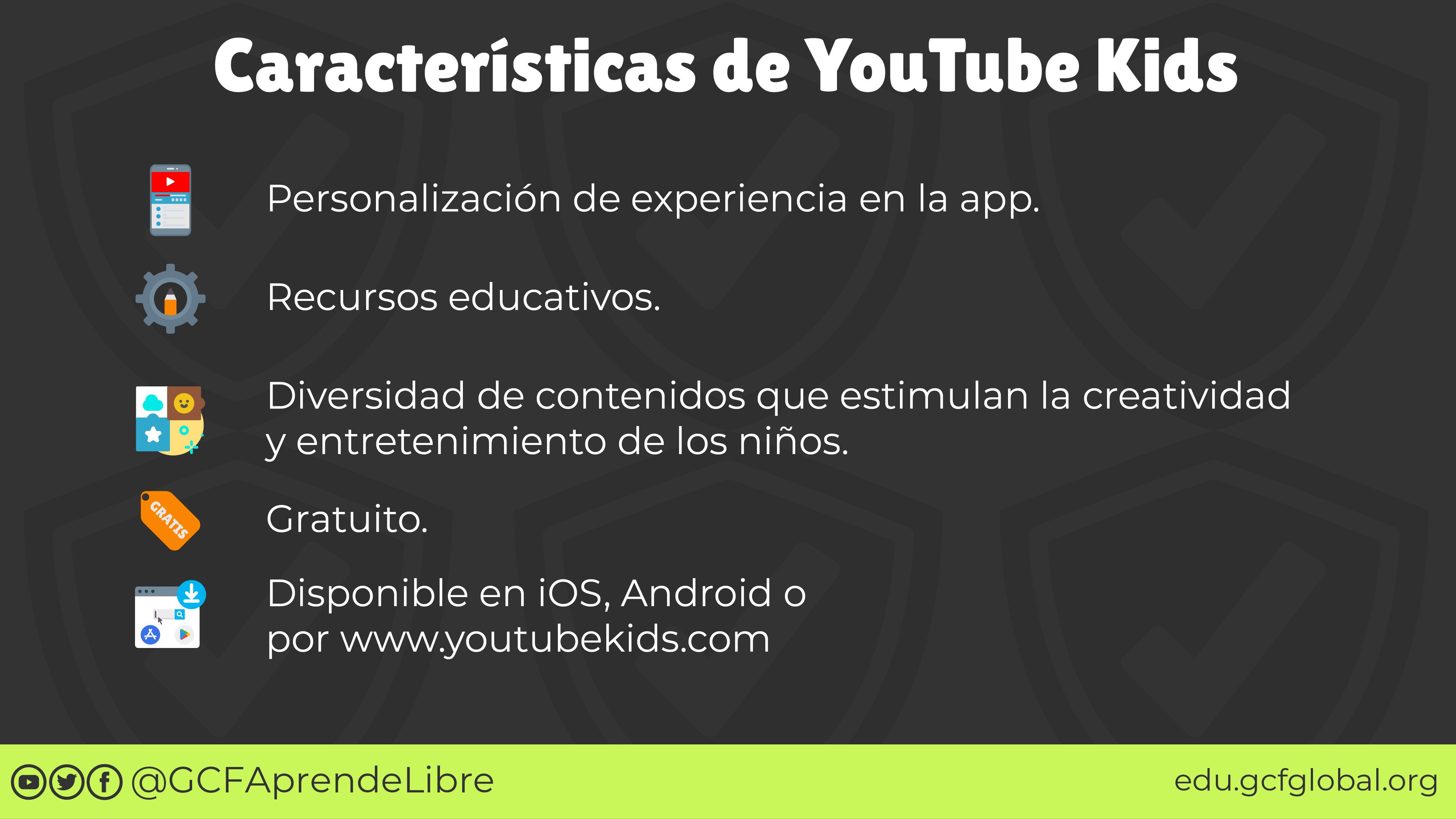 Características YouTube Kids