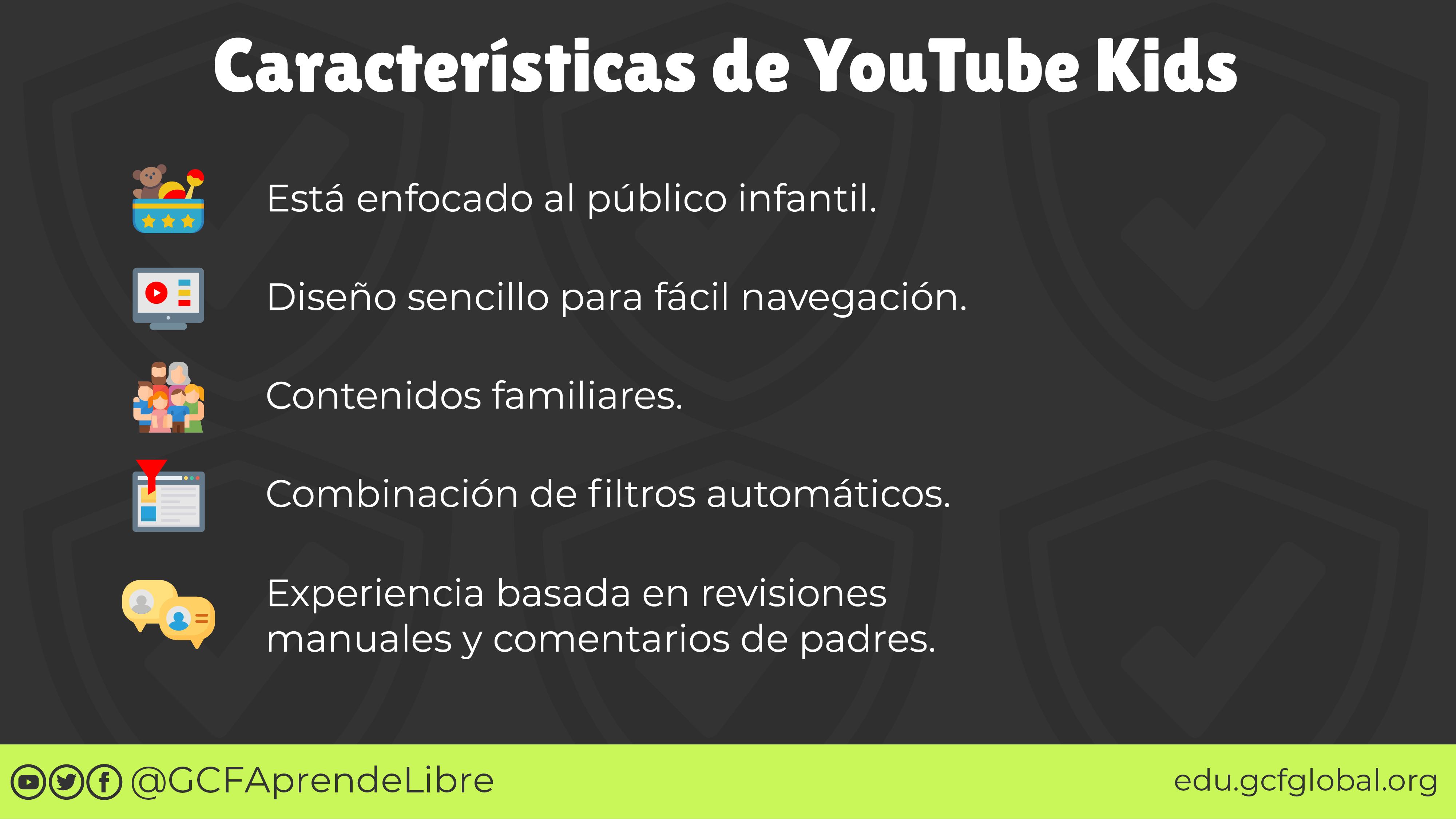 Características principales de YouTube Kids