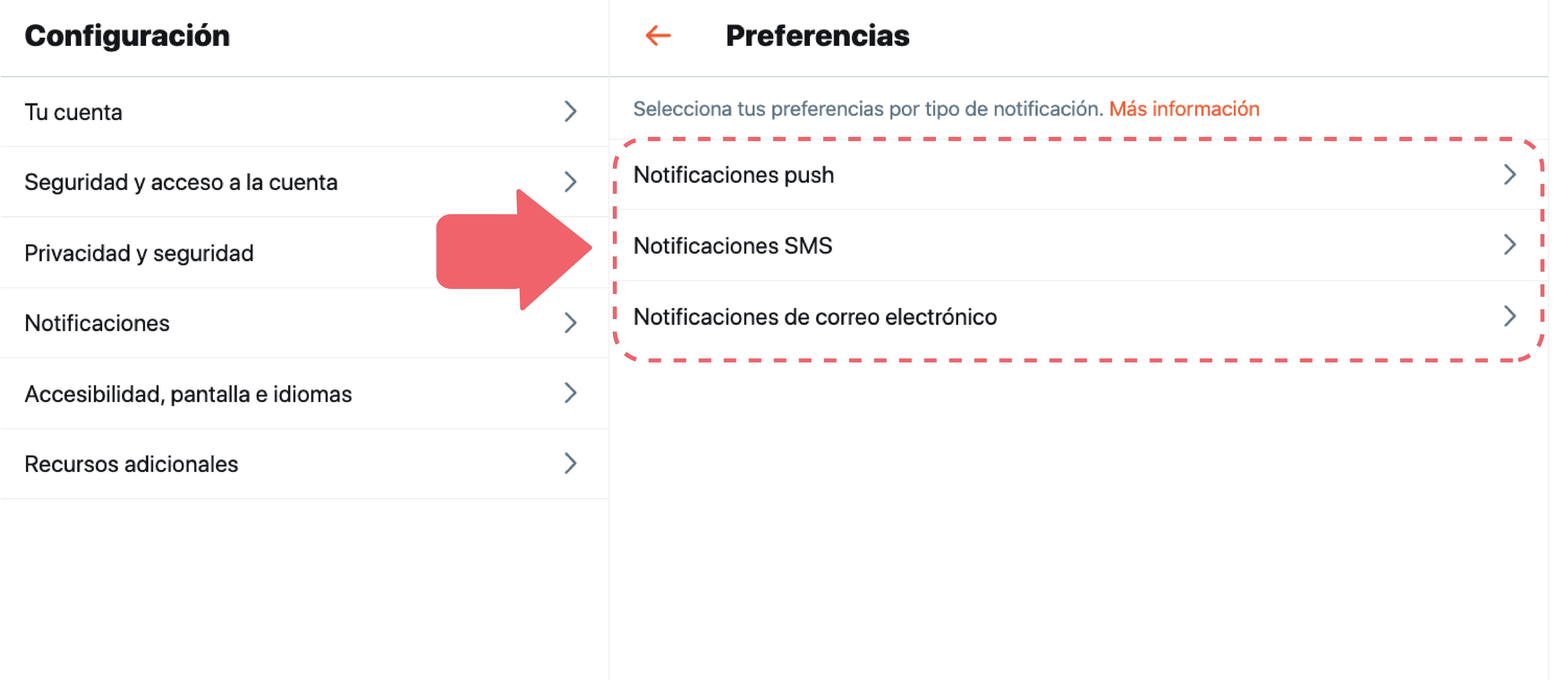 Recibe notificaciones push para enterarte de lo que está pasando cuando no estás en Twitter. Puedes desactivarlas cuando quieras.