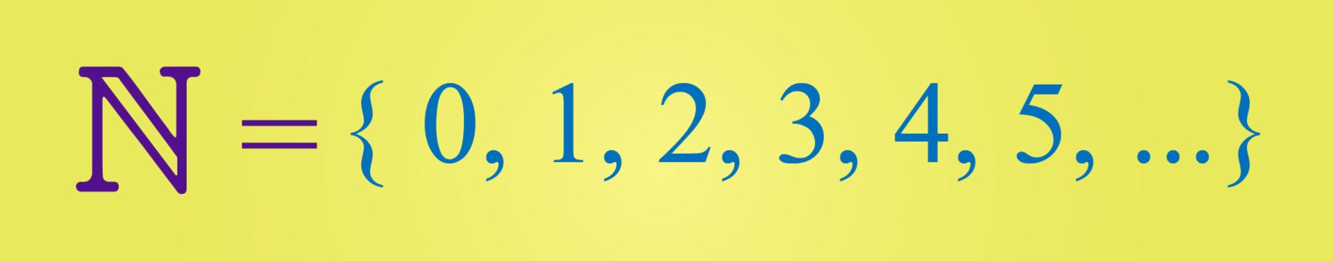 Conjunto de números naturais.