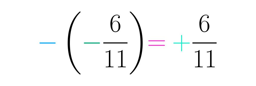 Opera el signo resultante con el de la fracción como tal
