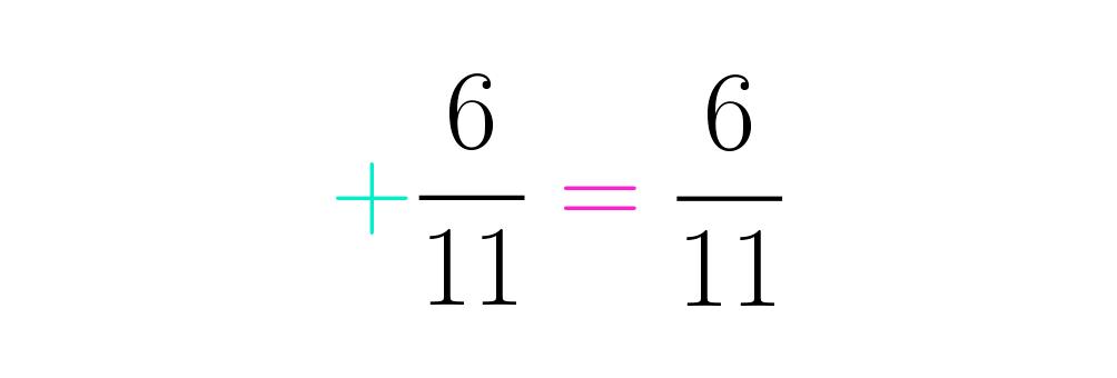 Como la fracción resulto ser positiva, no se le pone signo