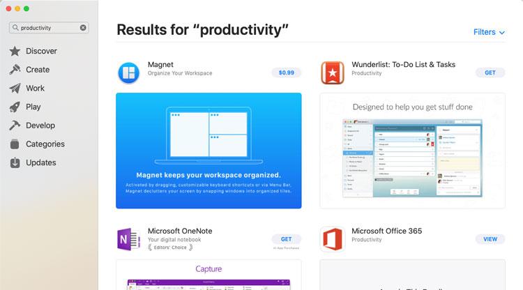 screenshot of the App Store