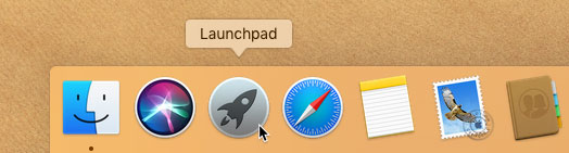 screenshot of the Launchpad icon in the Dock