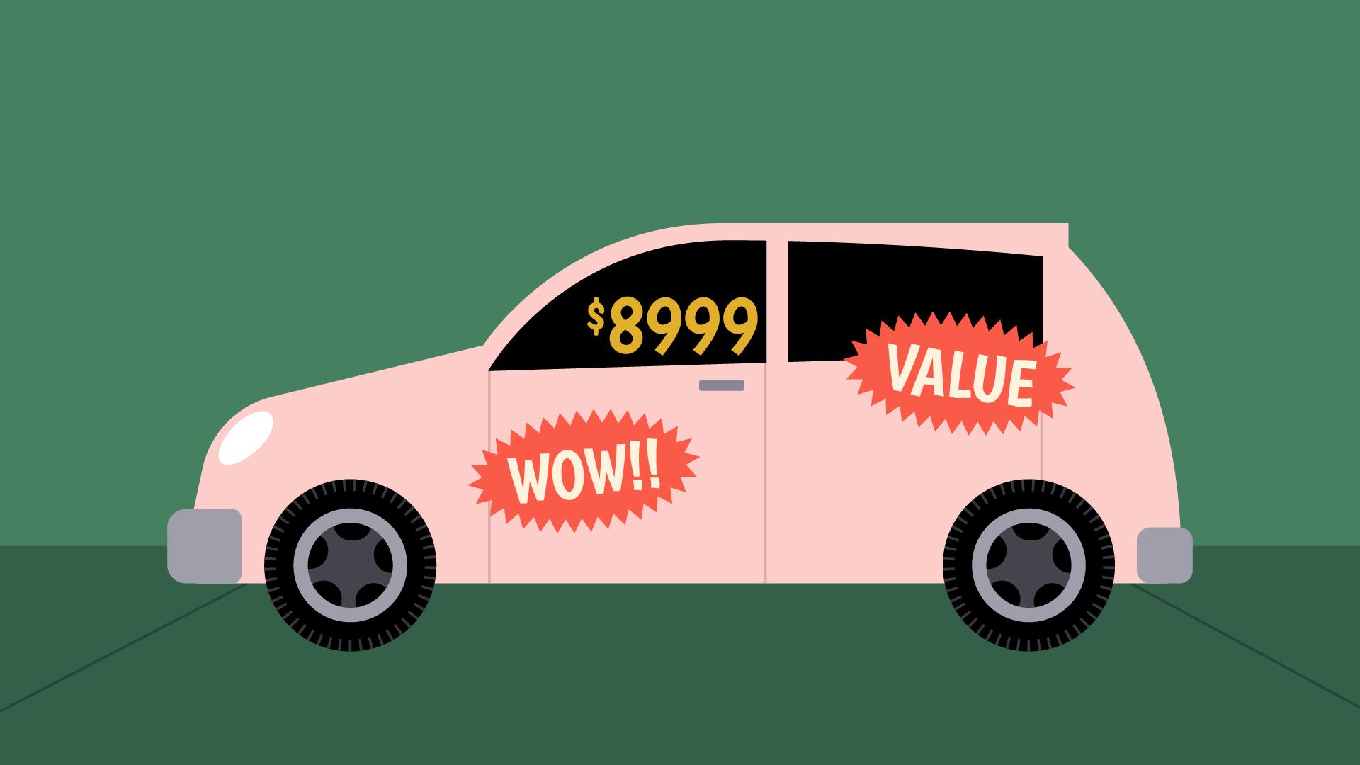 car $8999 price tag