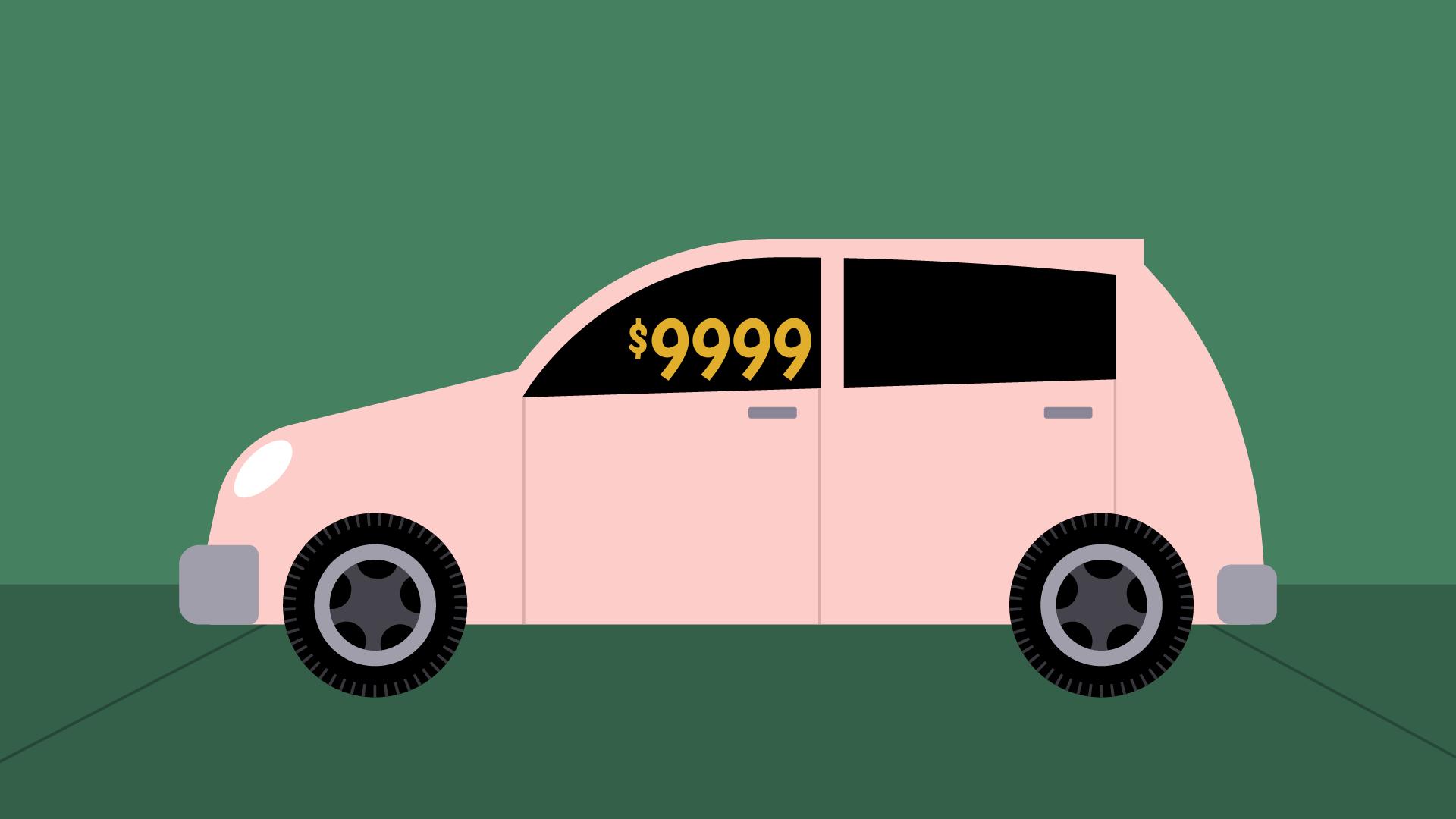car $9999 price tag