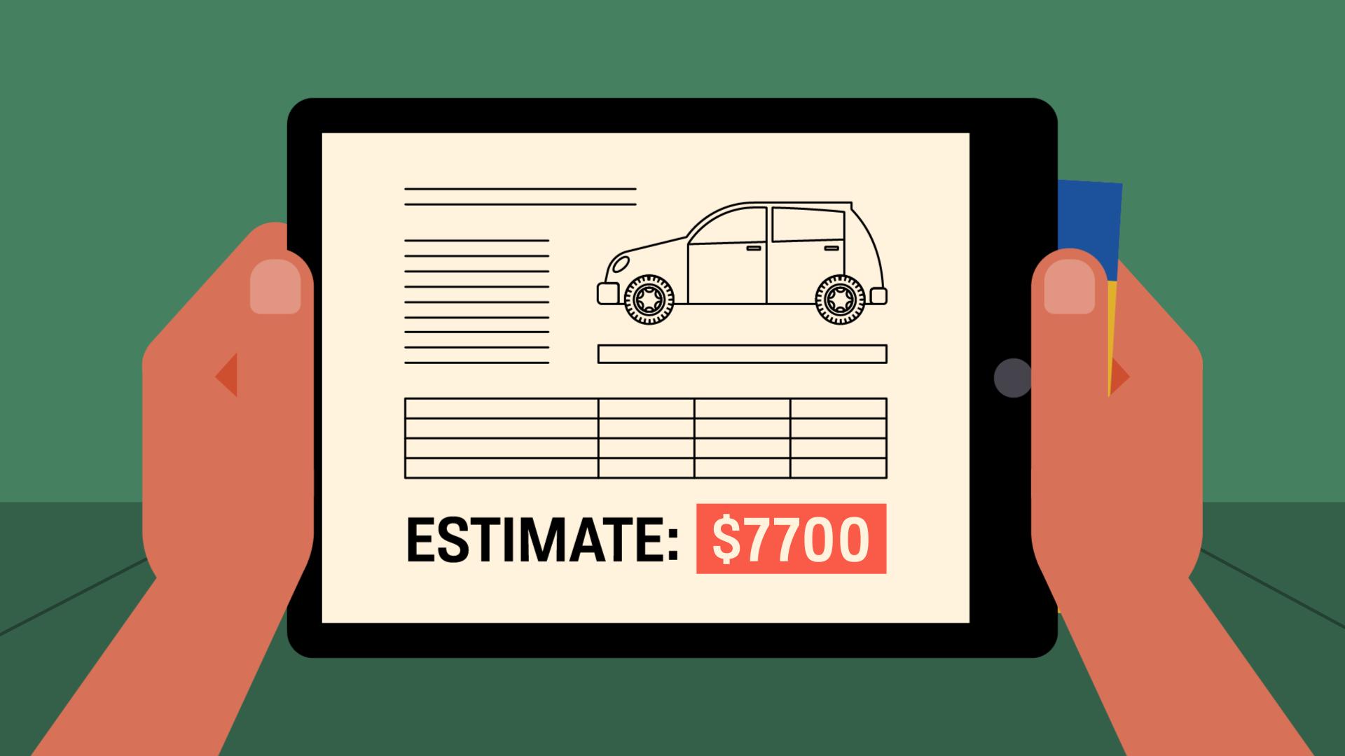 car estimate $7700