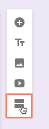 clicking Add Section button