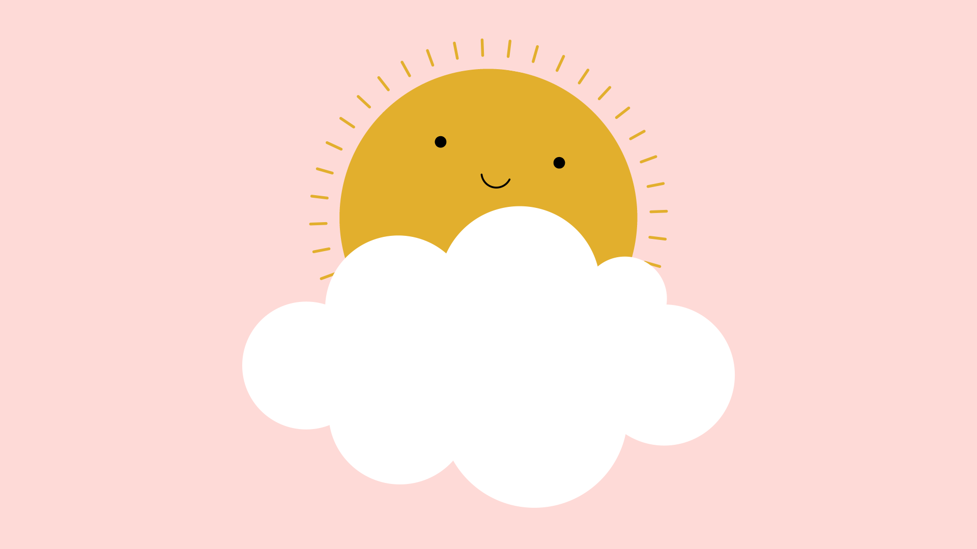 smiling sunshine and clouds