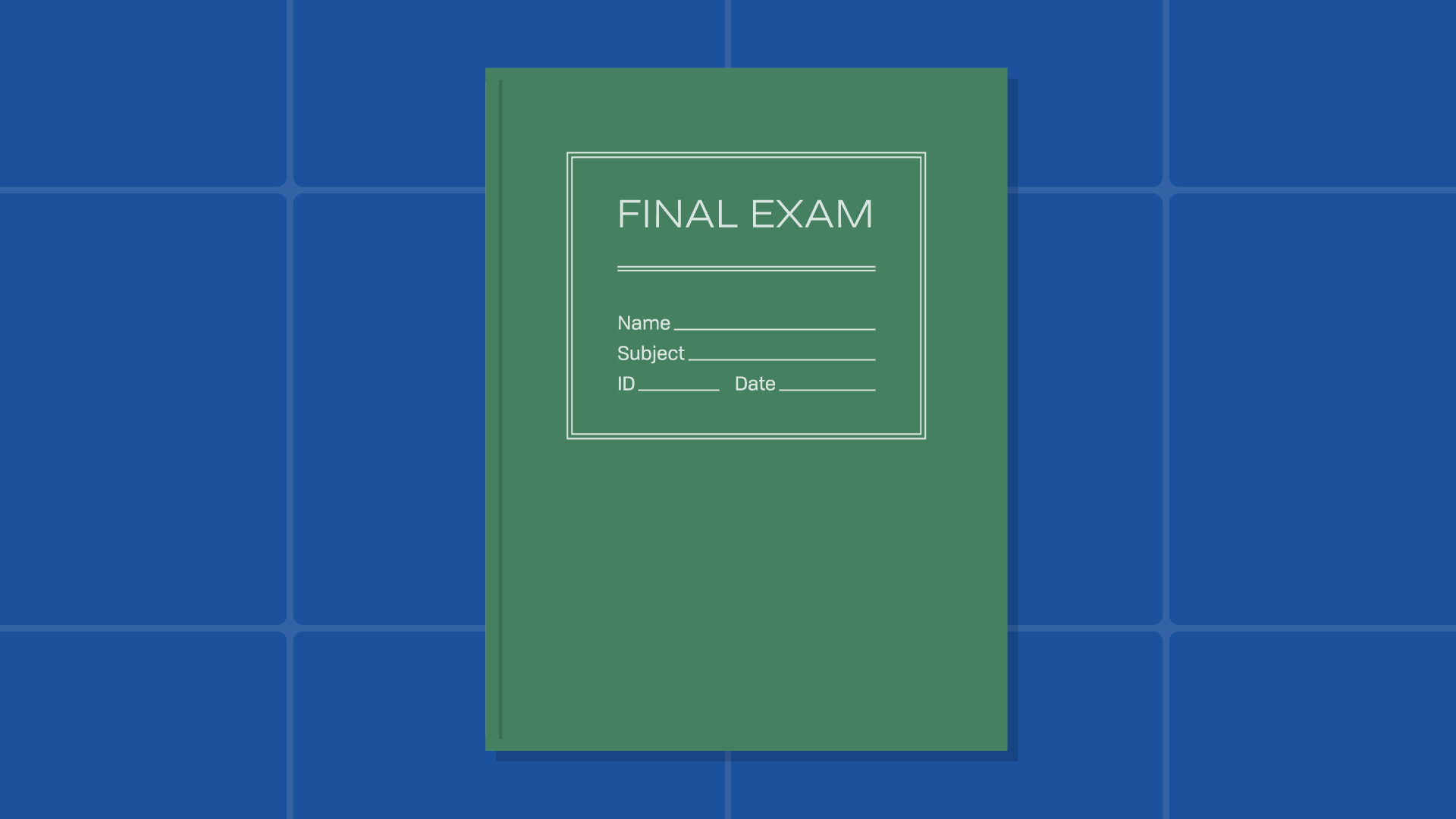 final exam booklet