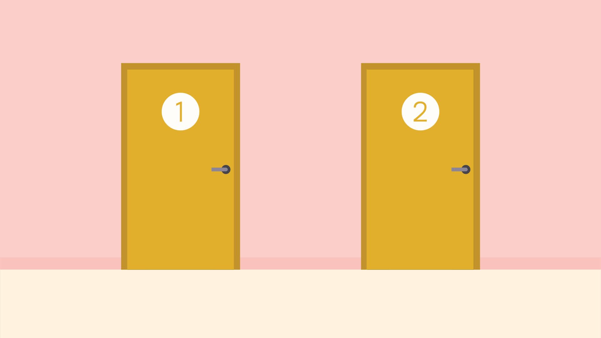 door 1 and door 2