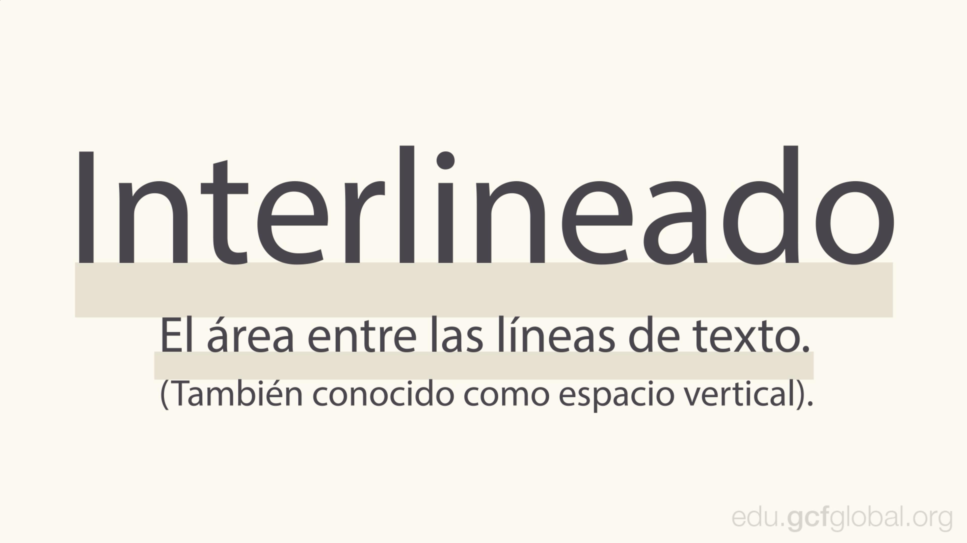 Imagen ejemplo de interlineado.