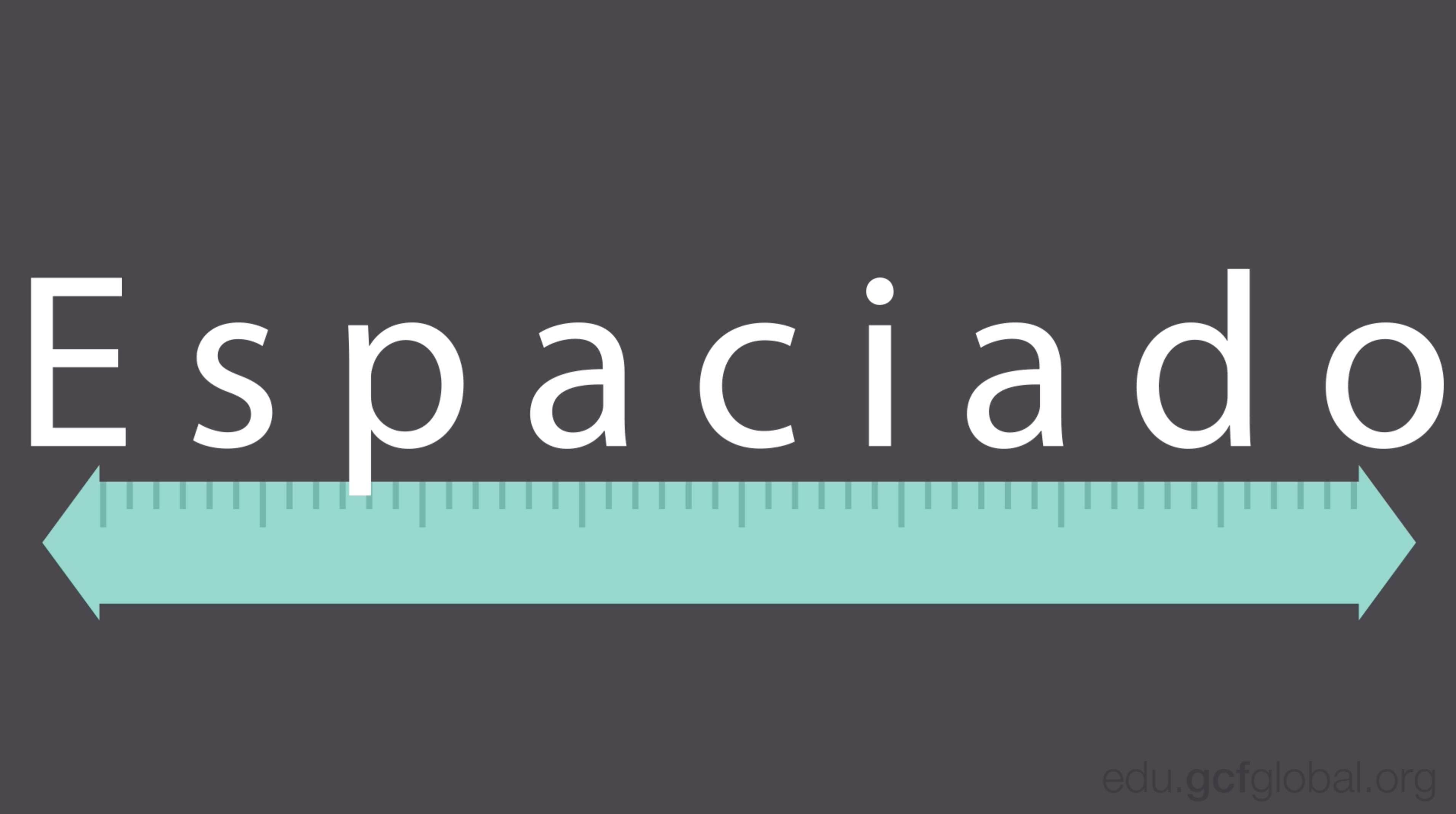 Imagen ejemplo de espaciado entre letras.
