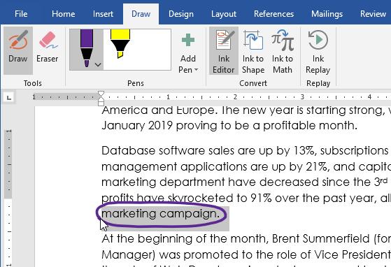 screenshot of the Ink Editor tool
