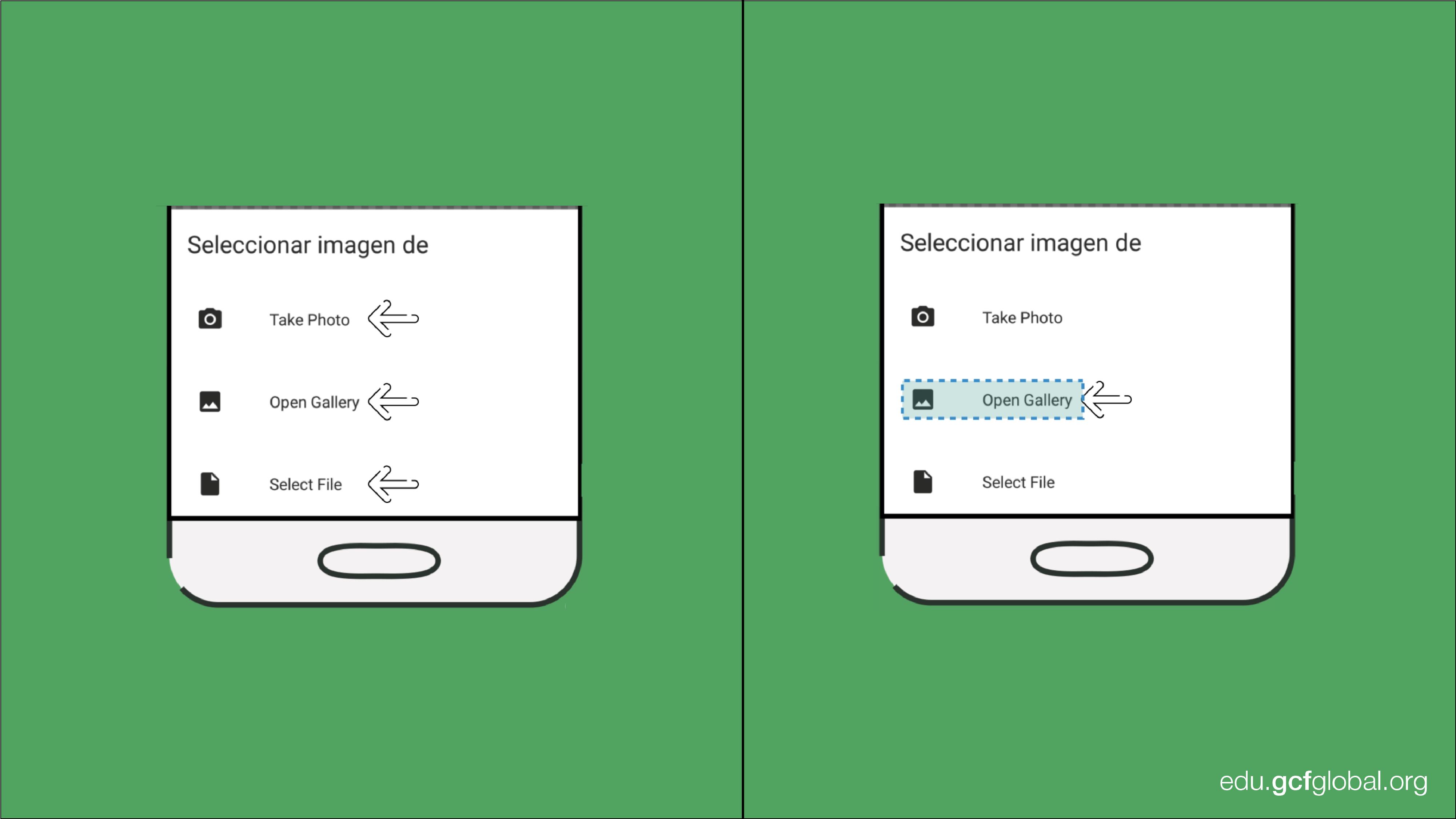 Imagen de la aplicación Sticker Maker con las opciones de adjuntar imágenes para crear los stickers.