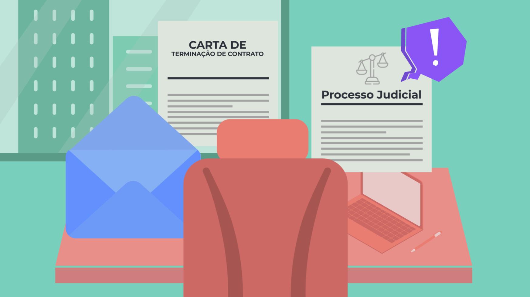 Imagem de cartas com avisos e processos legais para cometer plágio.