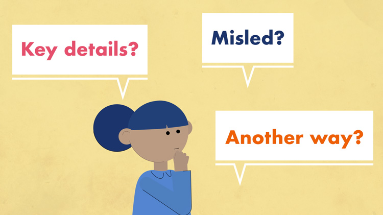 an illustration of someone asking themselves questions