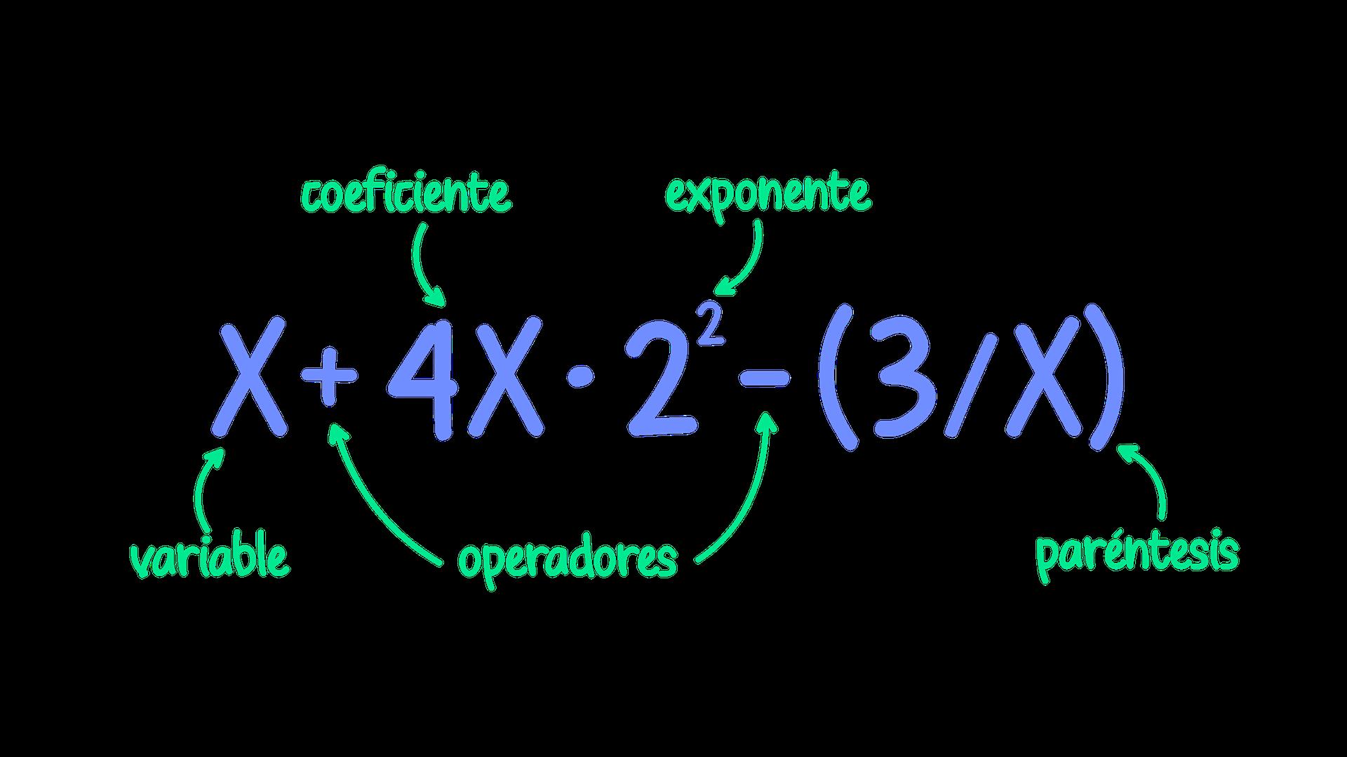 Partes de una expresión algebraica