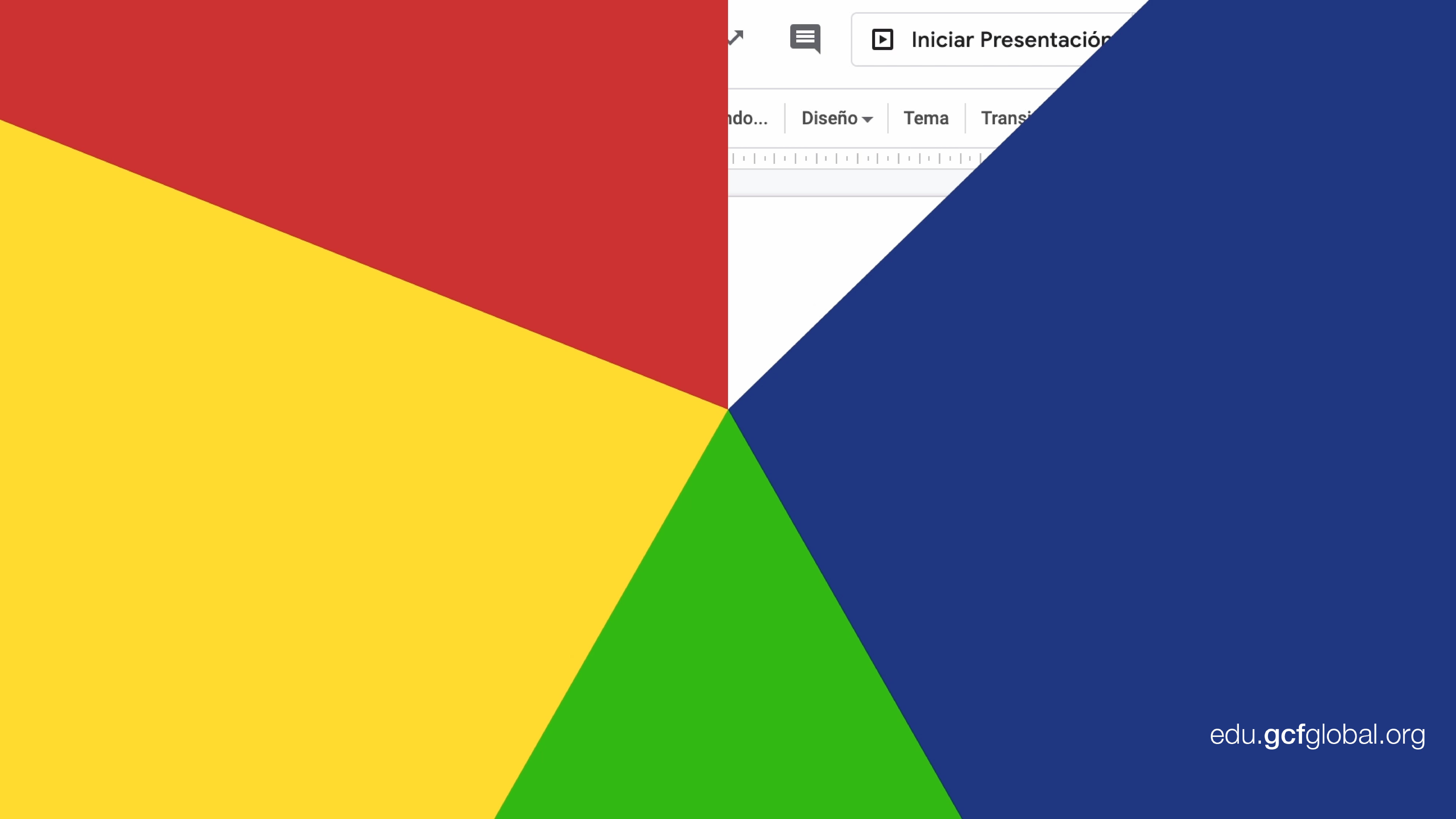 Imagen de diapositiva con varias capas de color.