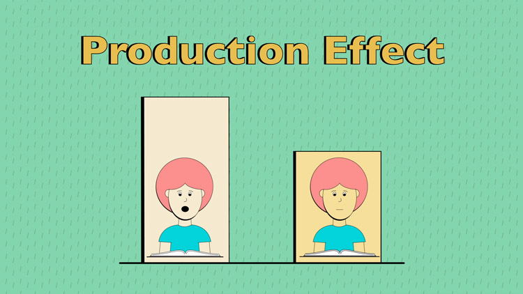 "a bar graph showing the effectiveness of ""the production effect"""