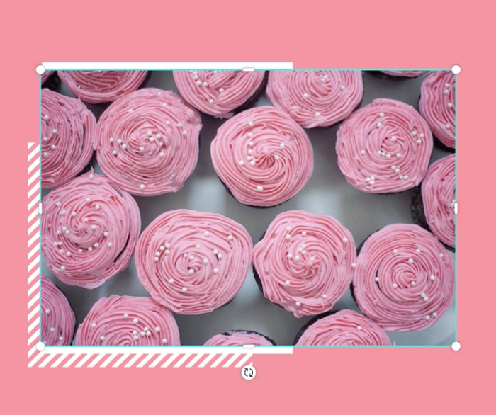 screenshot of cupcakes photo without resizing
