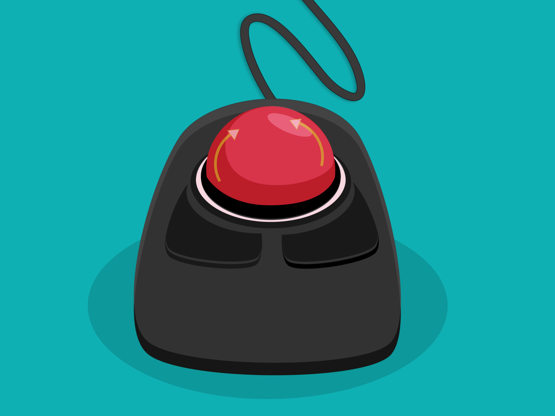 Trackball é um dispositivo alternativo ao mouse em um computador.