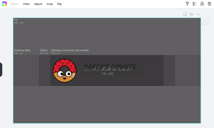 screenshot of YouTube template in Canva
