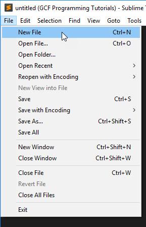 Sublime Text file dropdown
