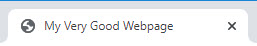 A browser tab with a title