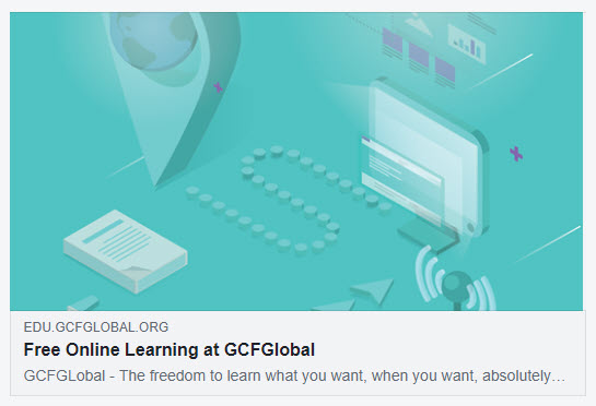 GCFLearnFree shared on Facebook