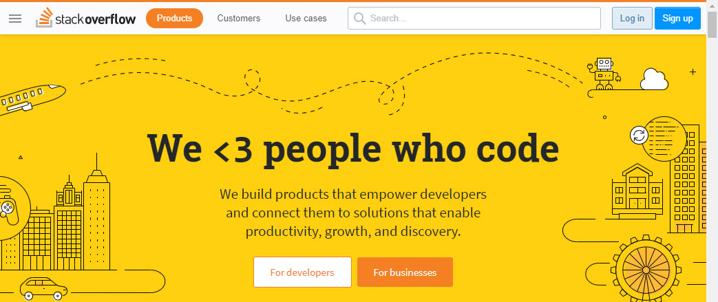 Stackoverflow homepage screenshot