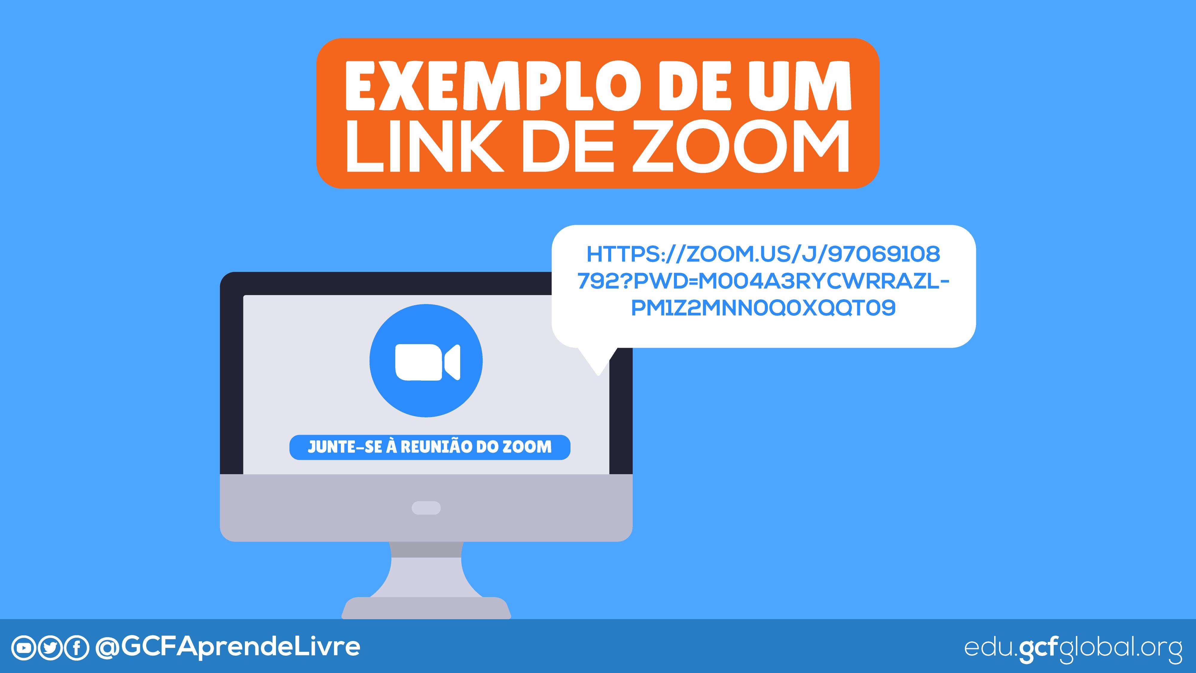 Imagem ilustrativa de um link para uma reunião do Zoom
