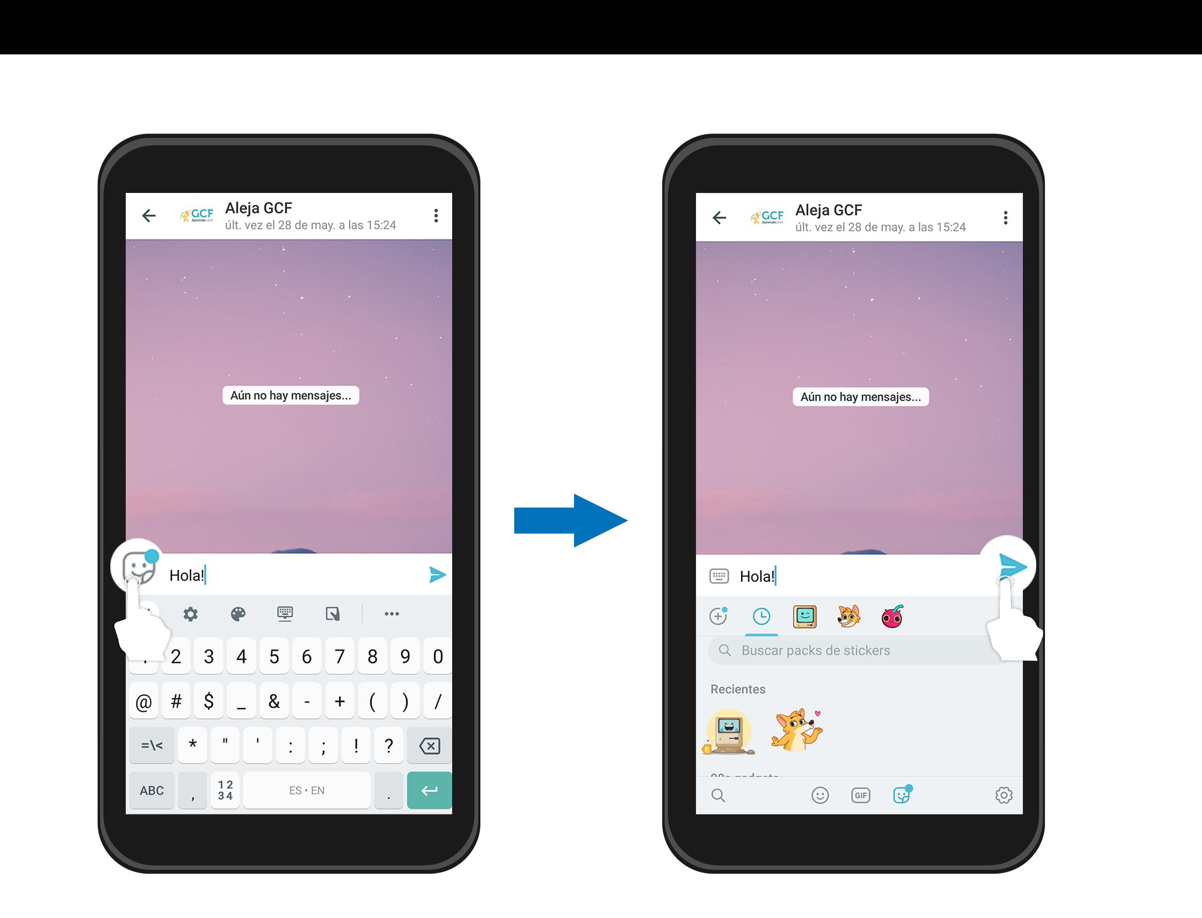 Escribir un mensaje en Telegram.