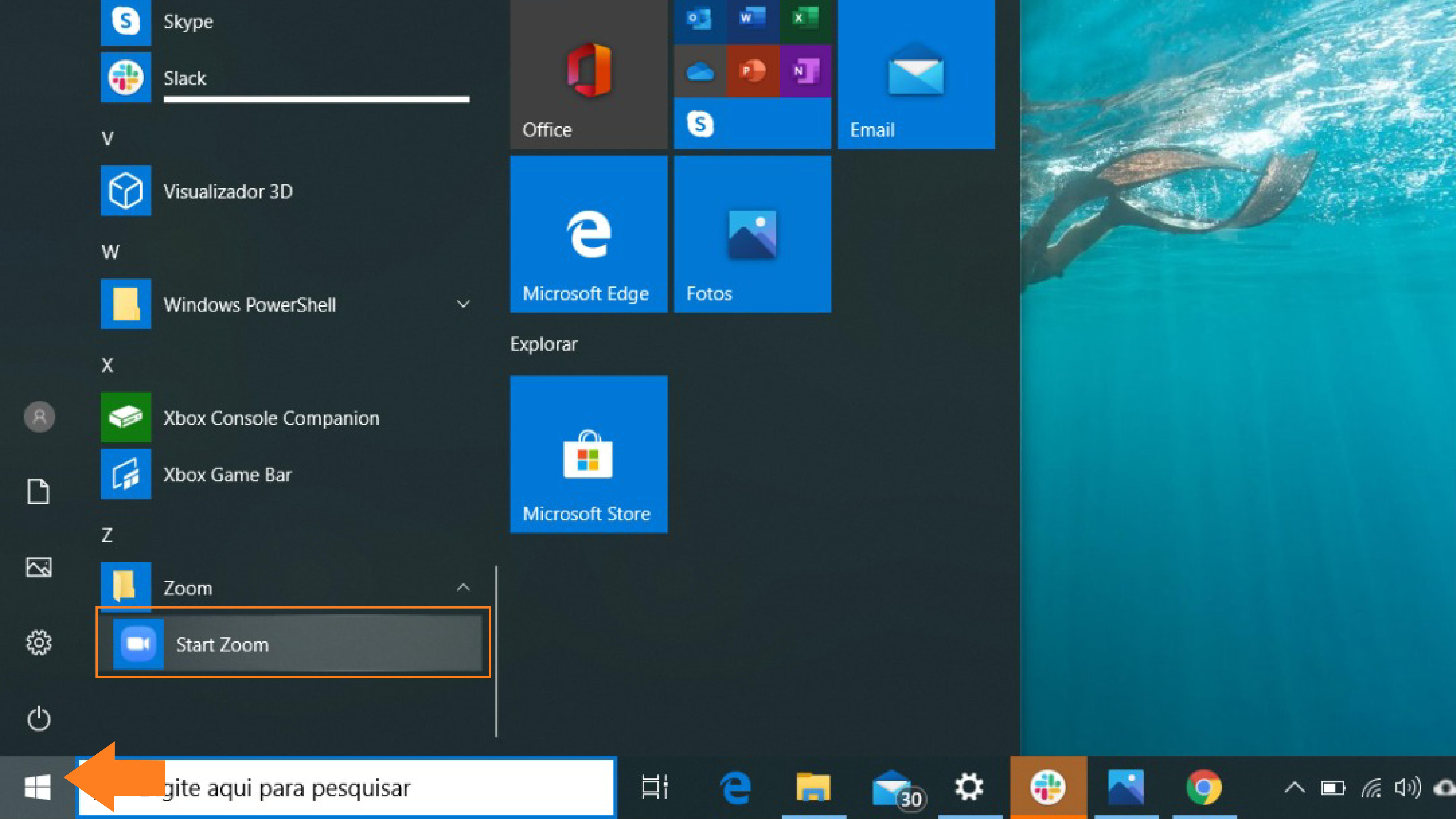 Imagem do Zoom no computador windows