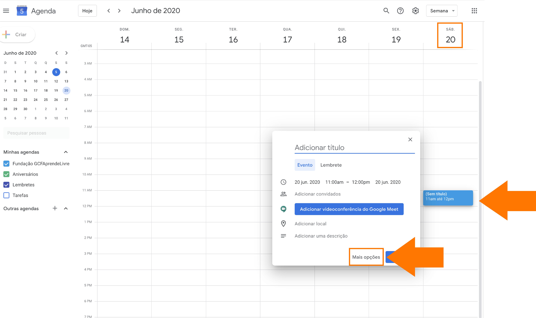 Imagem como agendar sua reunião do zoom no Google agenda 4