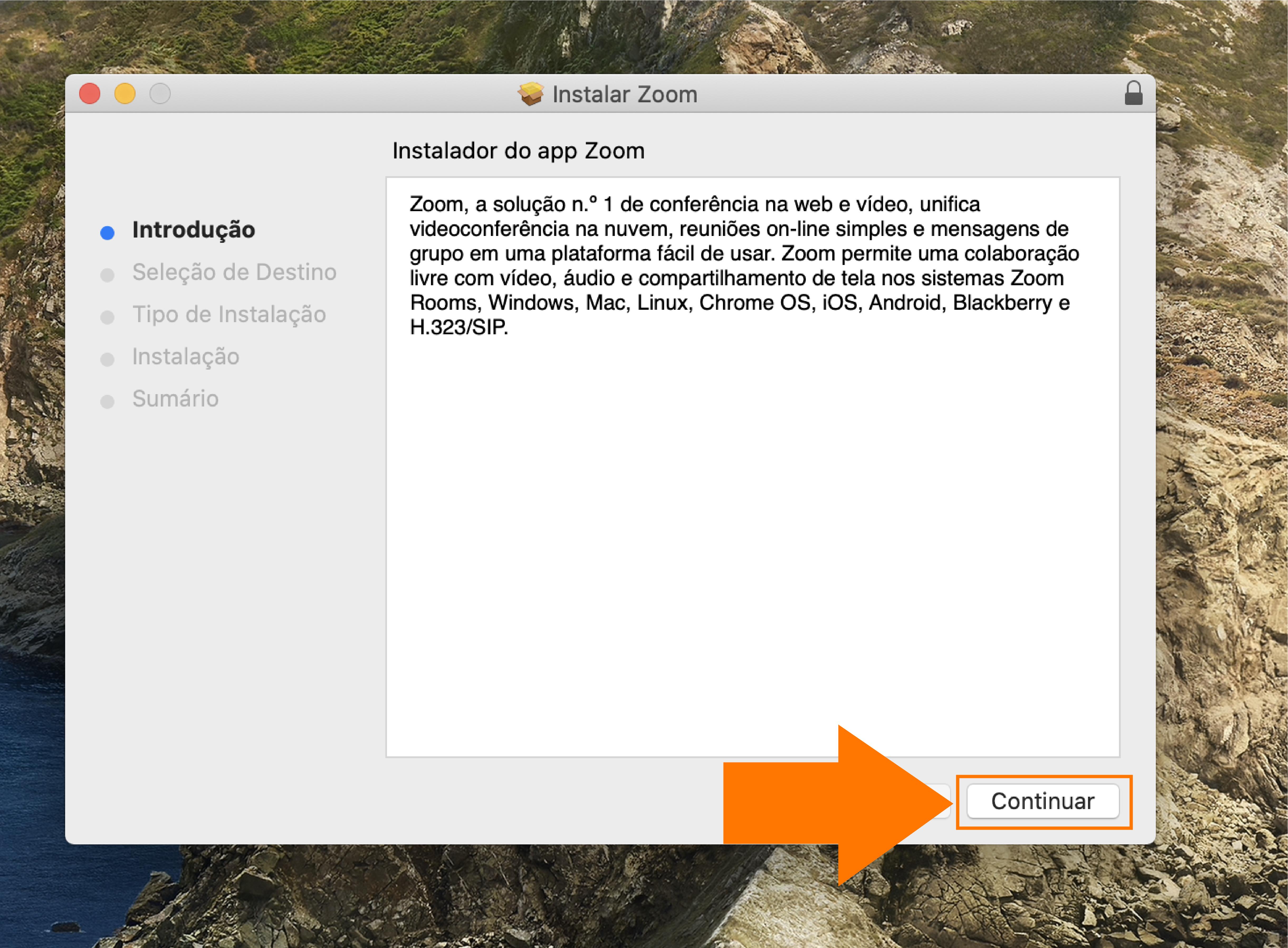 Imagem como atualizar o zoom no seu computador mac3