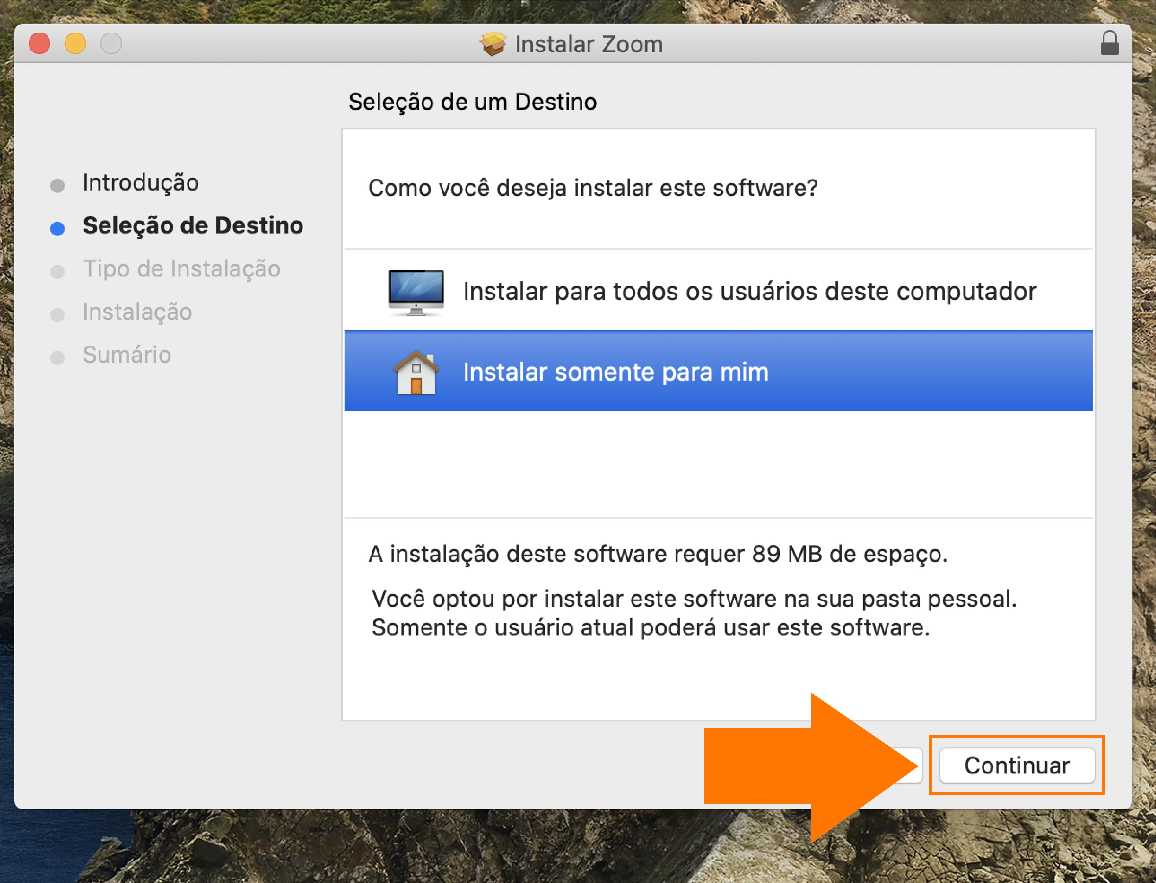 Imagem como atualizar o zoom no seu computador mac4