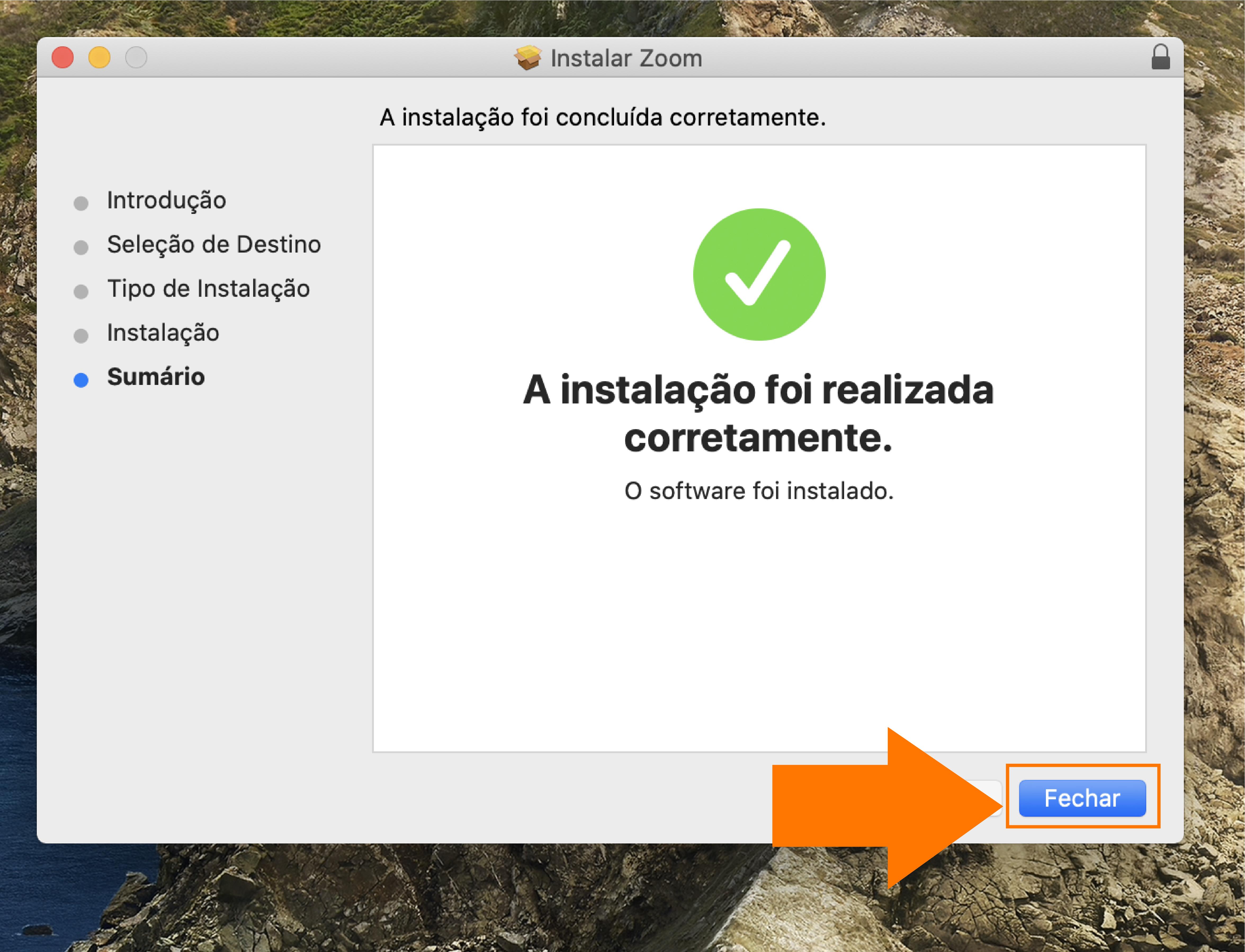 Imagem como atualizar o zoom no seu computador mac5