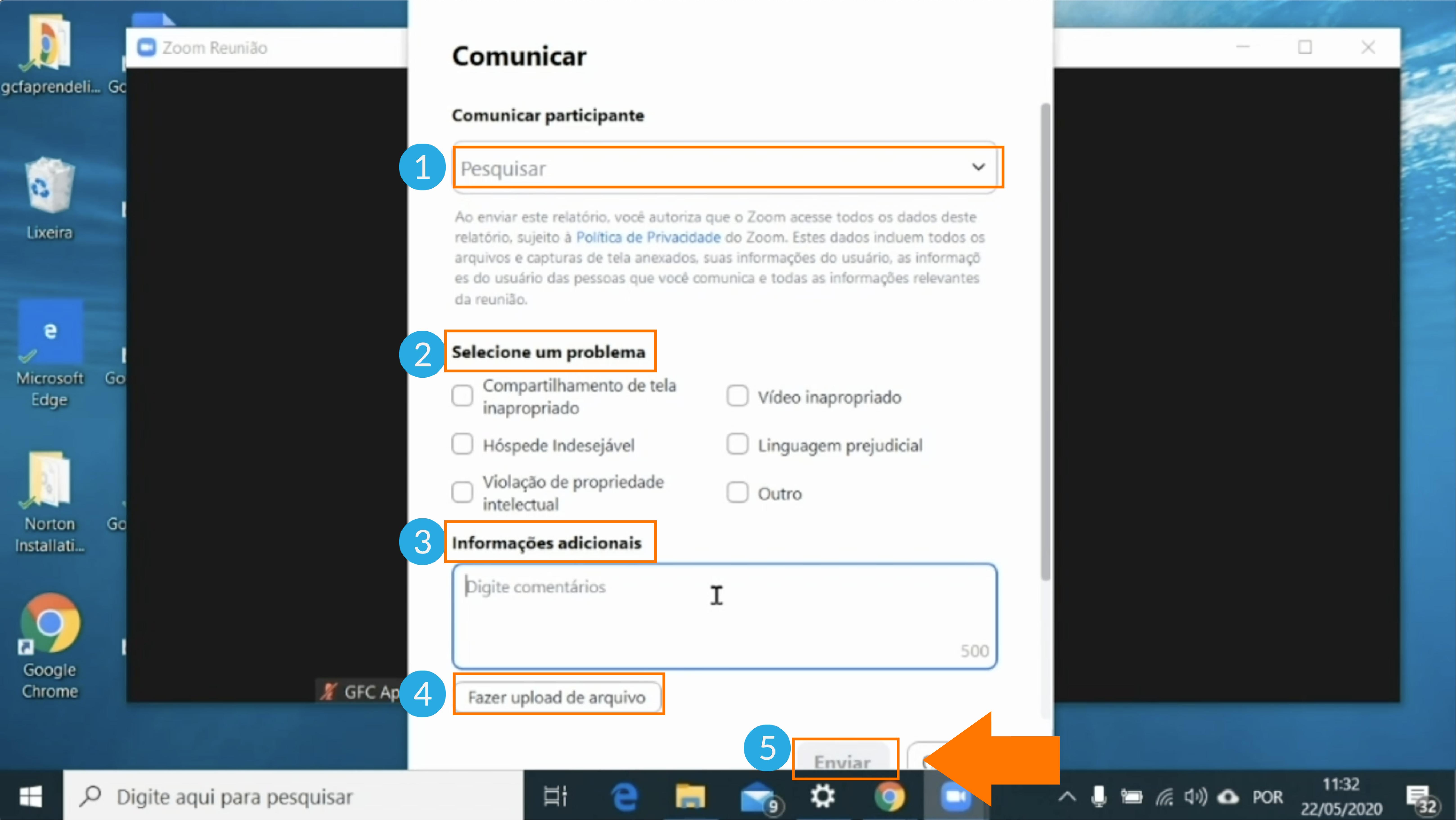 Imagem como comunicar um participante do zoom2