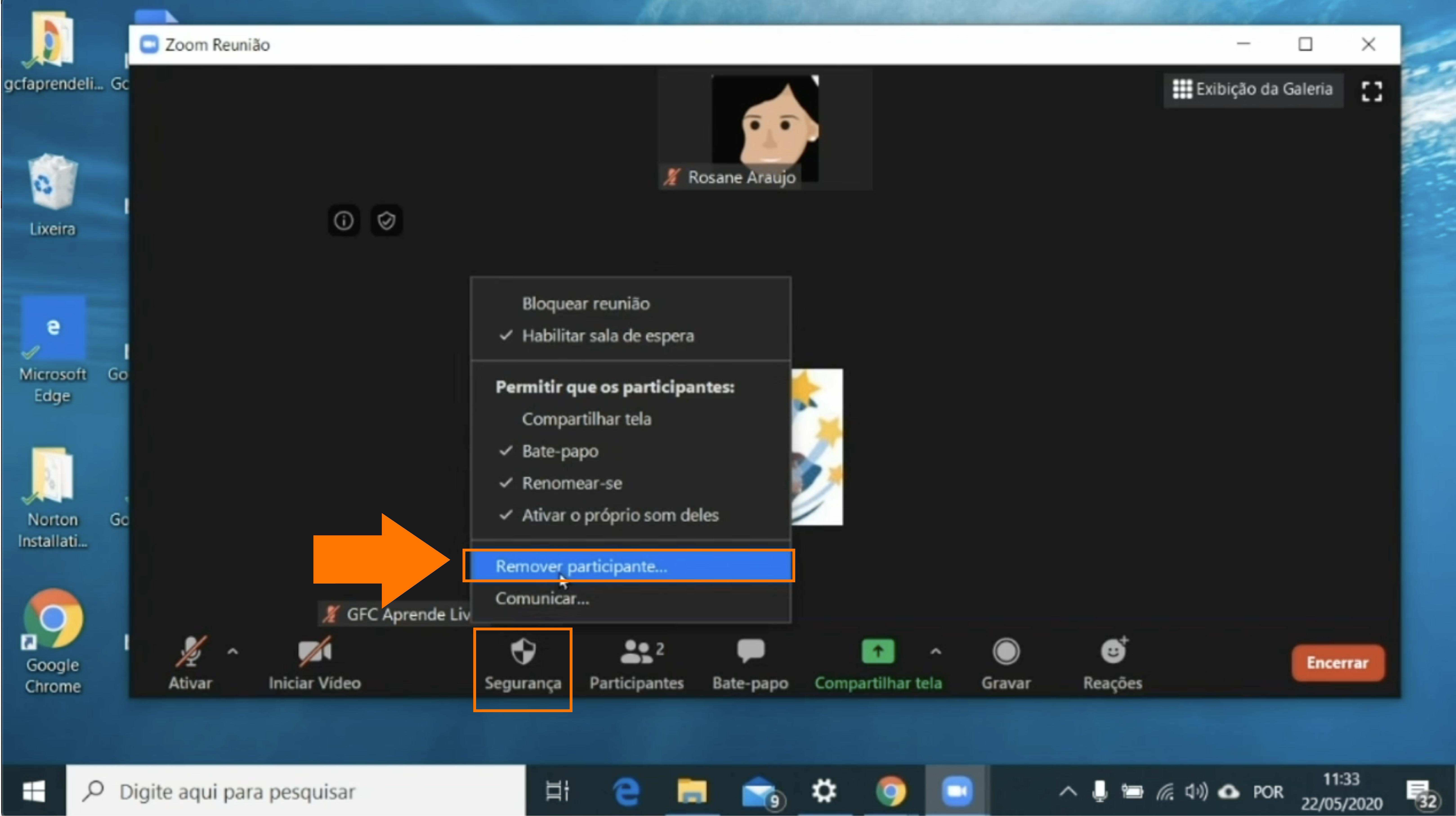 Imagem como remover um participante do zoom1