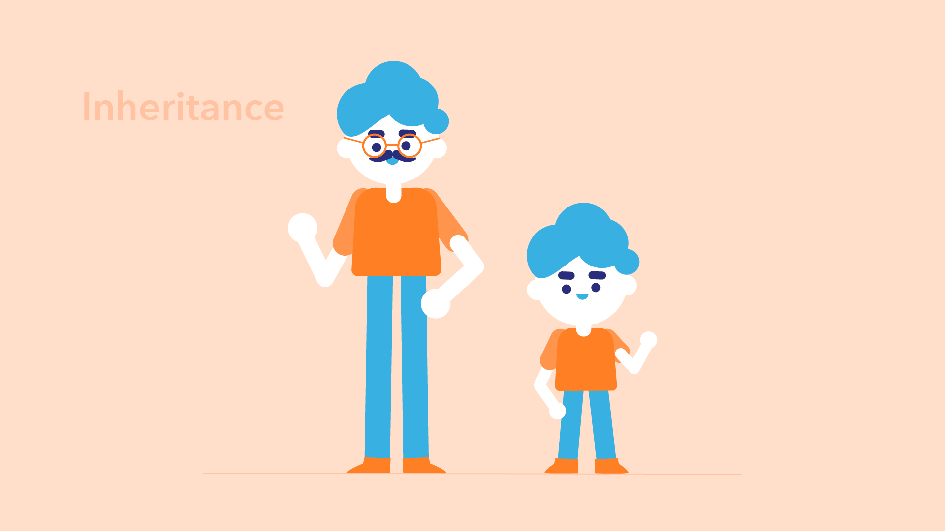 father and son with similar physical appearance