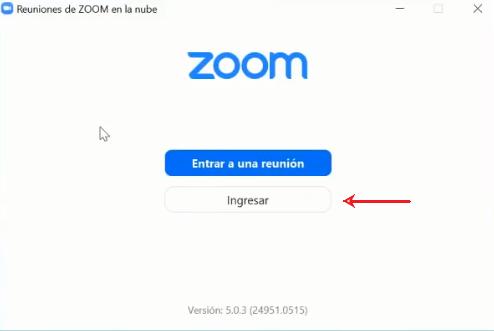 Ingresar Zoom