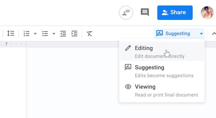 clicking editing