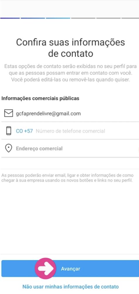 imagem 6 - criar conta instagram profissional