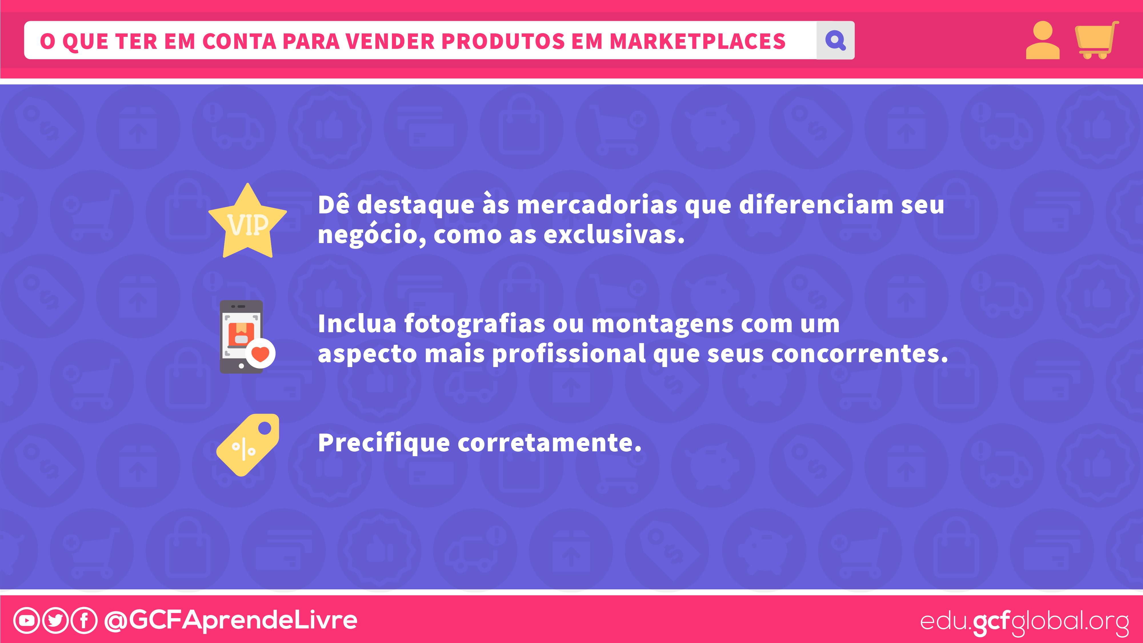 o que ter em conta para vender produtos em marketplaces